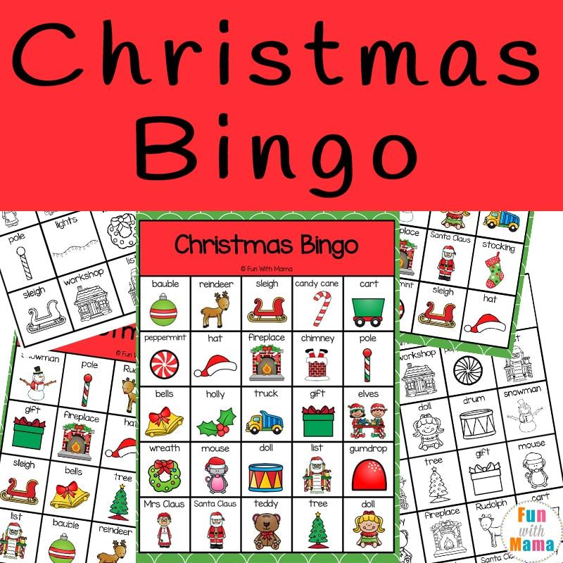 Christmas Bingo.Christmas Bingo Fun With Mama