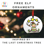 The Last Christmas Tree Activities + Elf Ornament