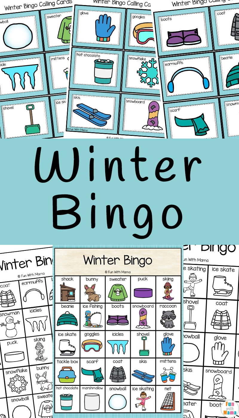 photo relating to Winter Bingo Cards Free Printable named Wintertime Bingo - Exciting with Mama