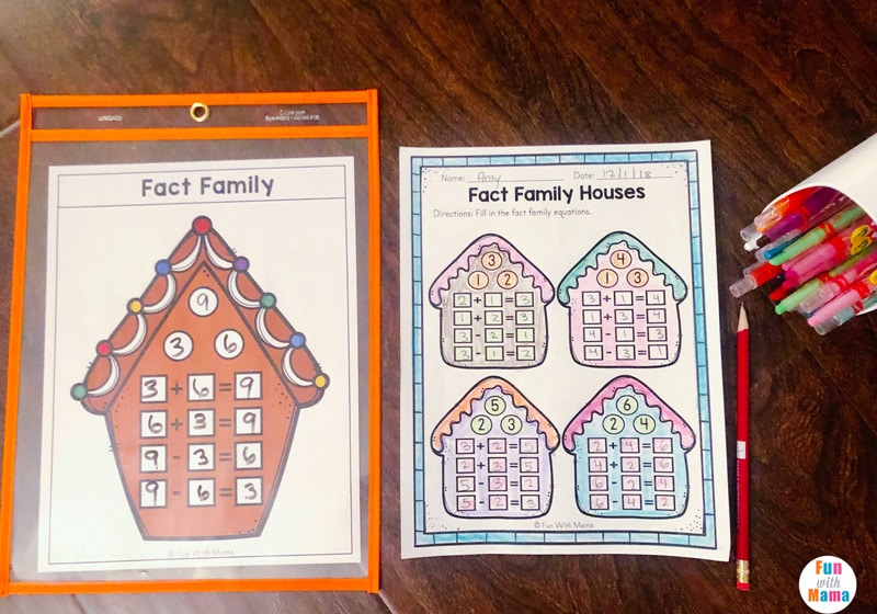 fact family printable