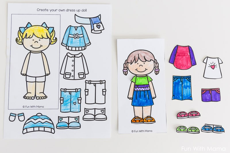 graphic regarding Printable Paper Doll Clothing referred to as Printable Paper Dolls For Spring, Summertime, Wintertime and Drop