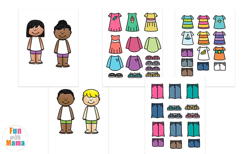 photograph about Paper Dolls to Printable known as Printable Paper Dolls For Spring, Summer time, Winter season and Tumble