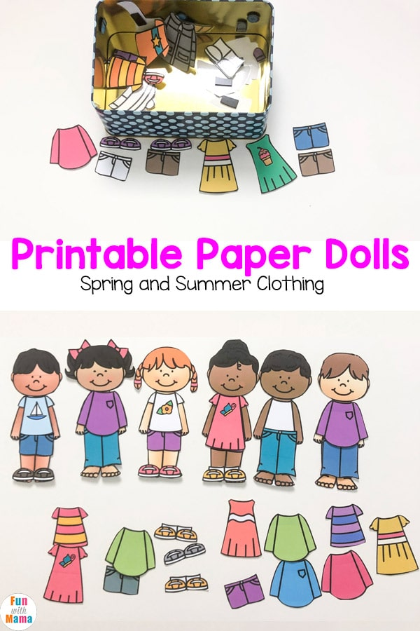 image about Paper Doll Clothes Printable called Printable Paper Dolls For Spring, Summer months, Winter season and Drop