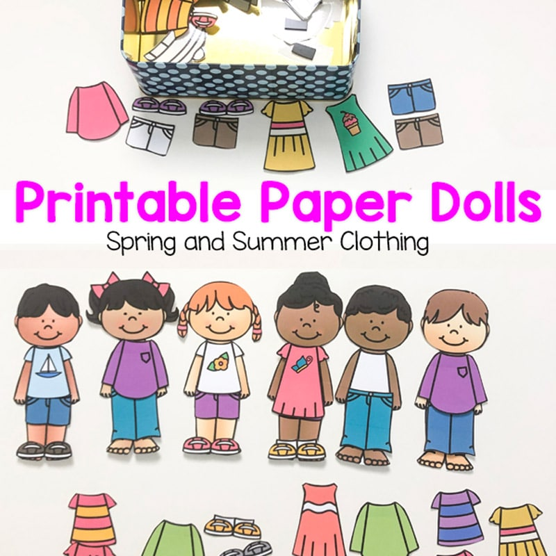 graphic about Printable Paper Dolls Templates named Printable Paper Dolls For Spring, Summer time, Wintertime and Drop