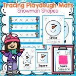 Snowman Shape Playdough Mats