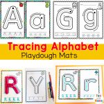 Alphabet Tracing Playdough Mats