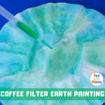 Earth Day Crafts – Coffee Filter Earth Paintings