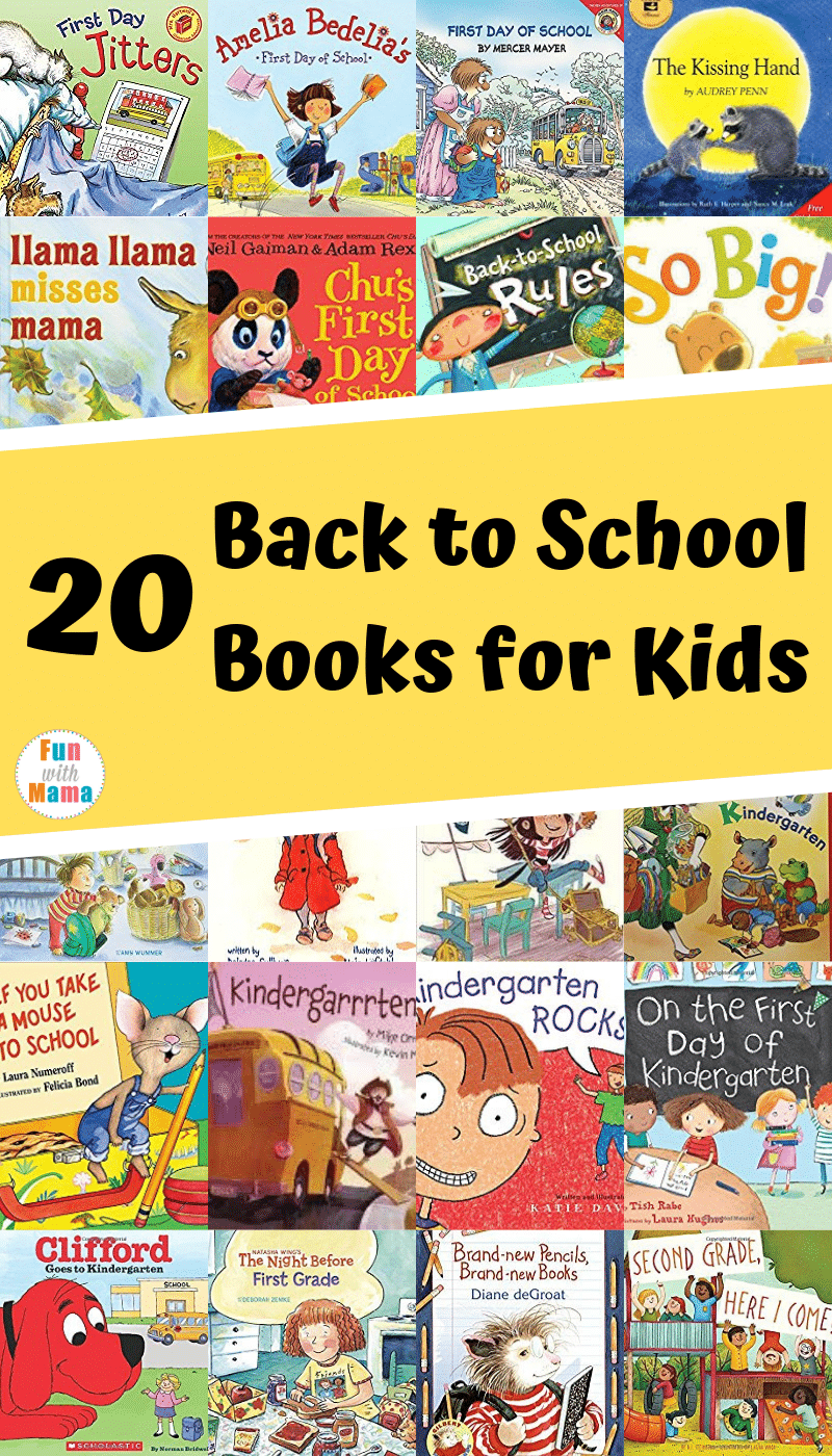 20 First Day Of School Books - Fun with Mama