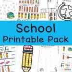 Back To School Activities Printable Pack