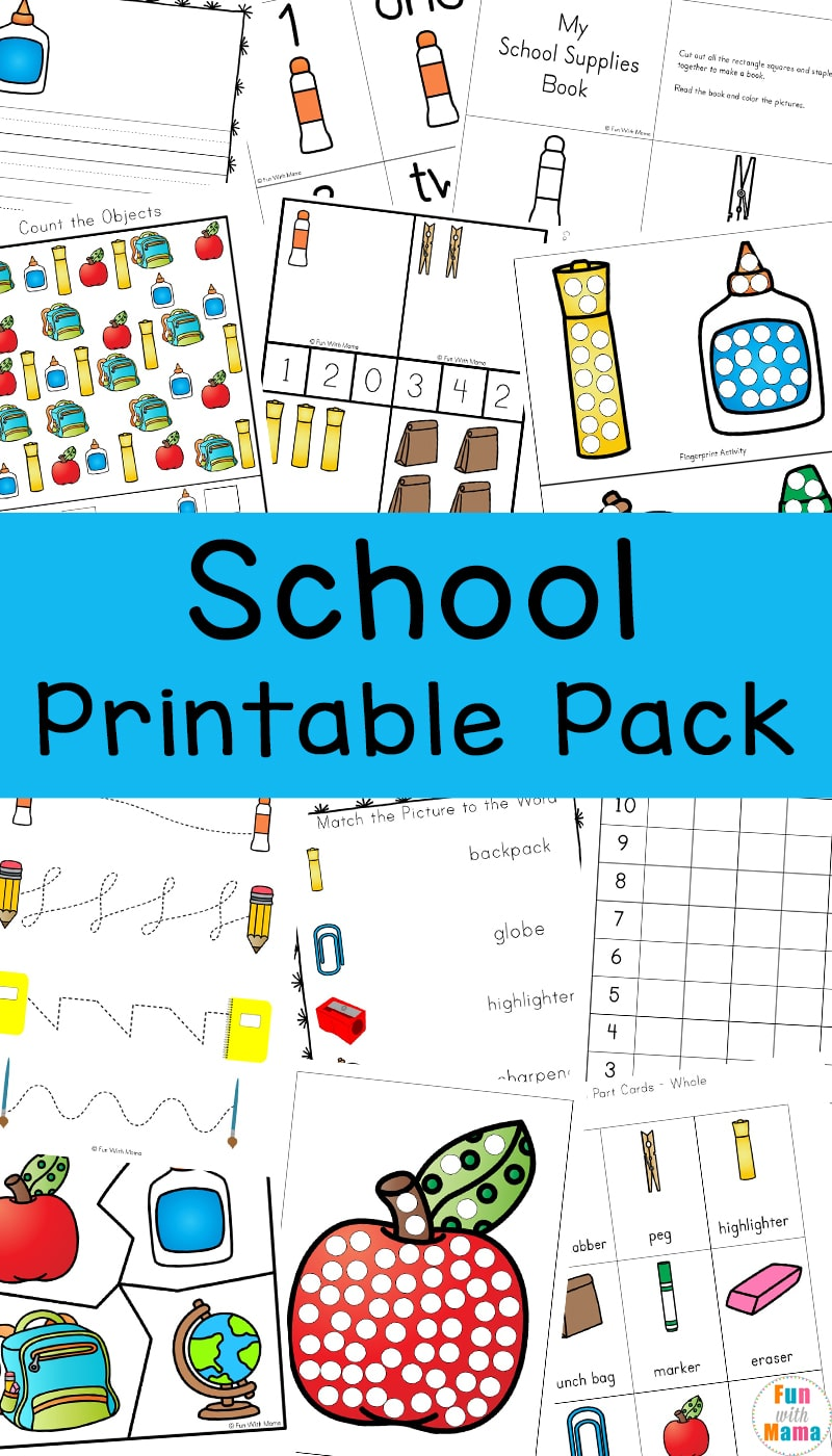 Back To School Activities Printable Pack - Fun with Mama