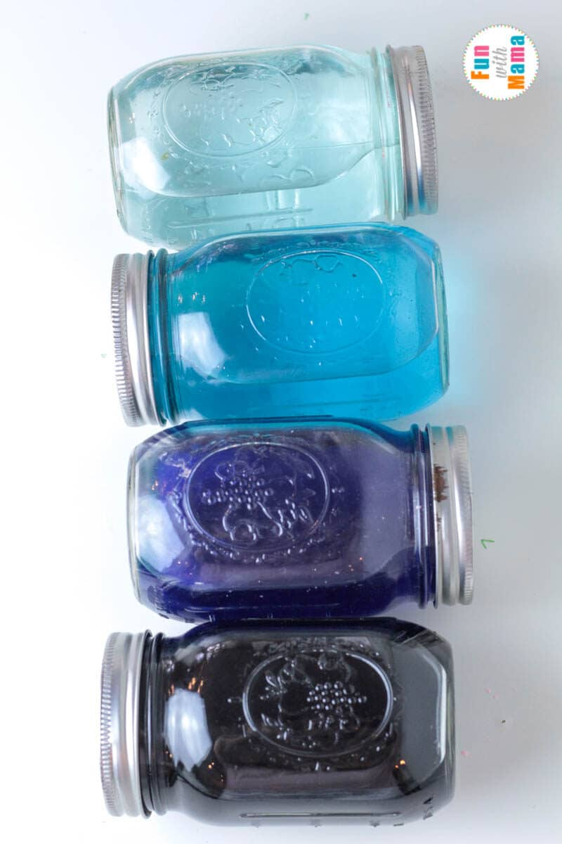 ocean layers in mason jars