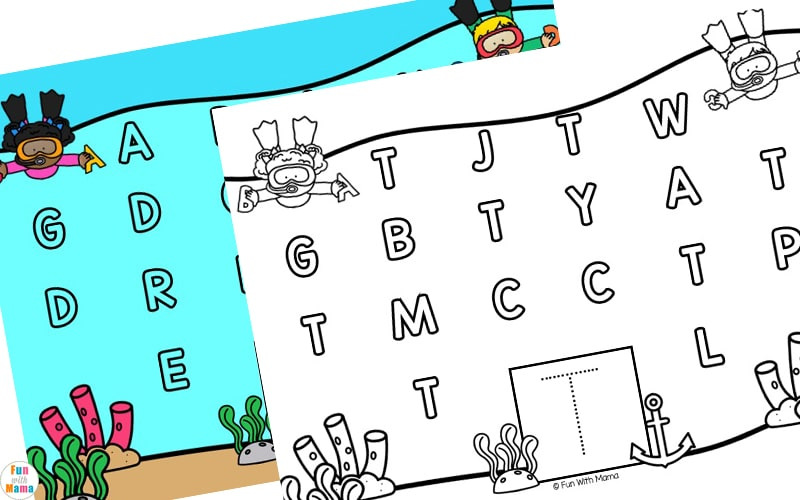 learning letter activity for early learners