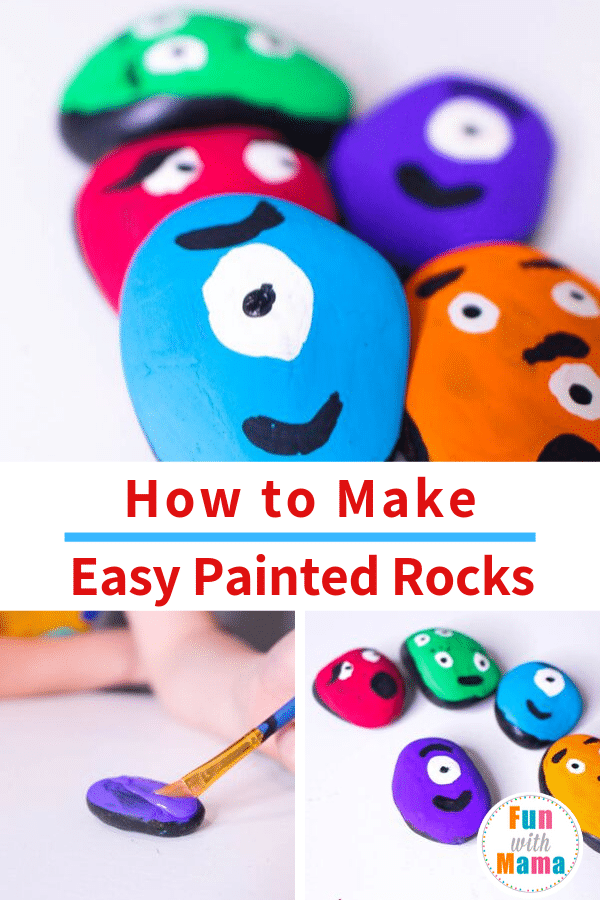 how to make easy painted rocks for kids