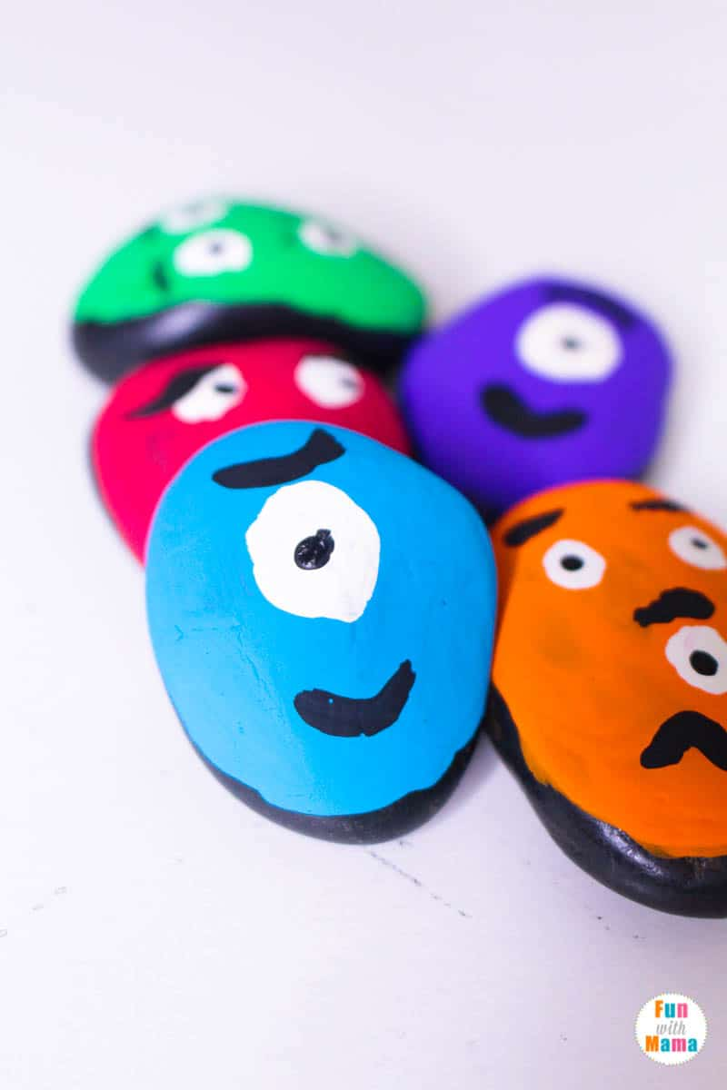colorful painted rocks