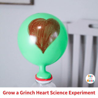 grinch heart science experiment