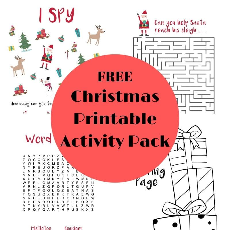 Christmas Printable Activity Pack for Kids