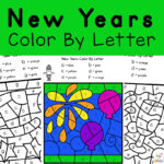New Years Color By Letter Fun for Kids