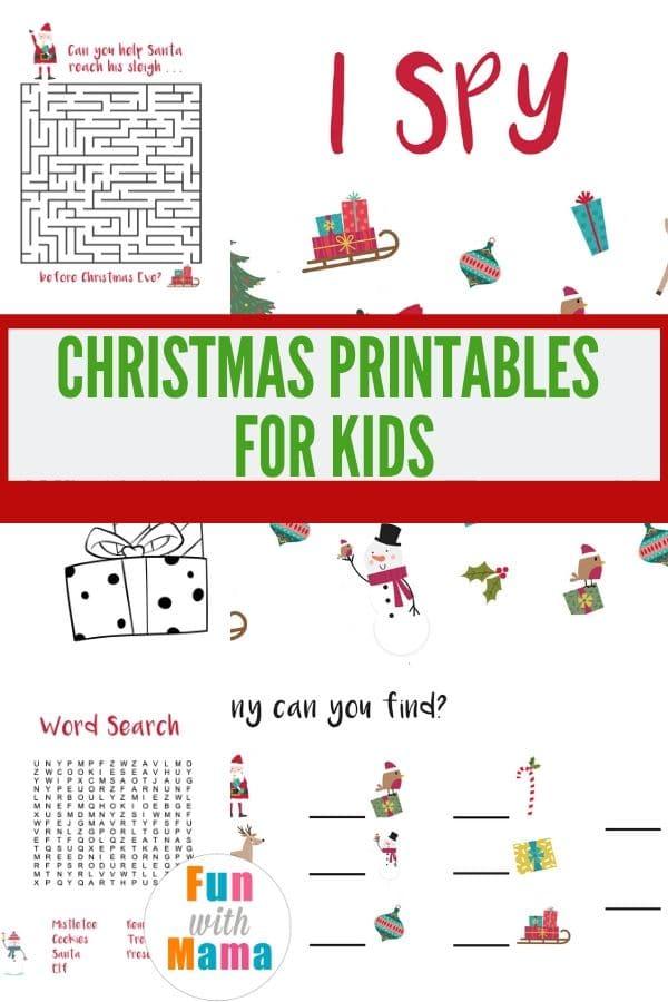 free Christmas printables for kids