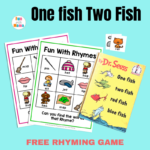 One Fish Two Fish Rhyming Words for Kids